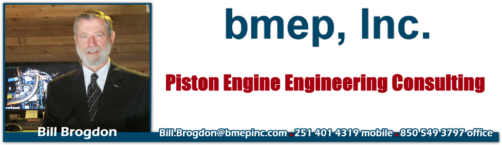 Bill Brogdon Piston Engine Engineer. 251 401 4319